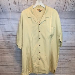 Tommy Bahama Silk Camp SS Shirt XL Cafe Paradise